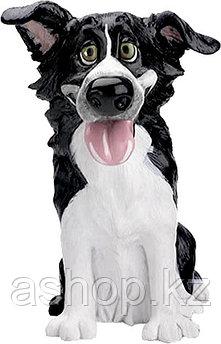 Статуэтка декоративная Arora Собака Бордер Колли Глен, Высота: 140 мм, Материал: Керамистоун, Цвет: Чёрно-белы