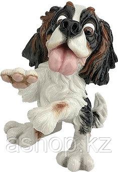 Статуэтка декоративная Arora Собака Кинг-спаниель Портия, Высота: 200 мм, Материал: Керамистоун, Цвет: Разноцв