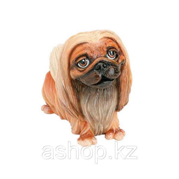 Статуэтка декоративная Arora Собака Пикинес Пэрис, Высота: 100 мм, Материал: Керамистоун, Цвет: Разноцветный,