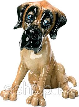 Статуэтка декоративная Arora Собака Дог Дюк, Высота: 220 мм, Материал: Керамистоун, Цвет: Чёрно-коричневый, (5