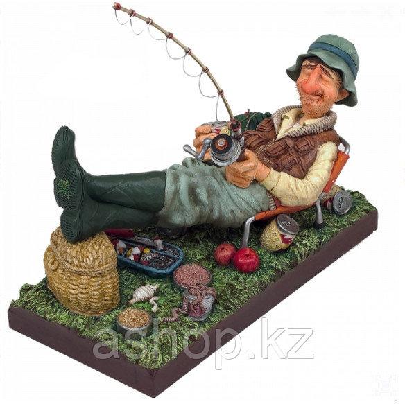 Статуэтка декоративная Forchino Рыбак, Высота: 350 мм, Материал: Полистоун, Цвет: Разноцветный, (FO85503)