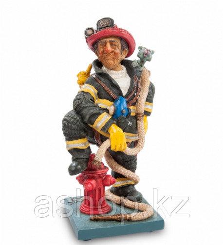 Статуэтка декоративная Forchino Пожарный, Высота: 220 мм, Материал: Полистоун, Цвет: Разноцветный, (FO84010)