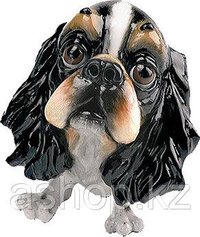 Статуэтка декоративная Arora Собака Спаниель Фин, Высота: 100 мм, Материал: Керамистоун, Цвет: Разноцветный, (