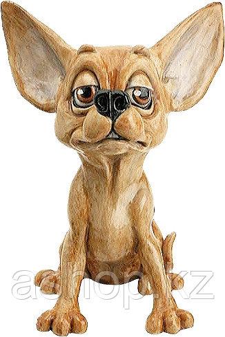 Статуэтка декоративная Arora Собака Чихуахуа Зигги, Высота: 130 мм, Материал: Керамистоун, Цвет: Коричневый, (