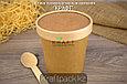 Упаковка для супов,каш,мороженного с картонной крышкой 470мл (Eco Soup 16C PK) DoEco (25/250), фото 3