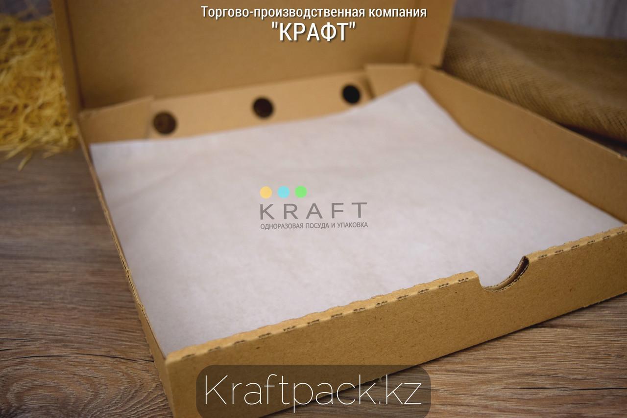 Подложка под пиццу, оберточная бумага для фаст фуда, с парафином 305*305 (1000 шт/уп)