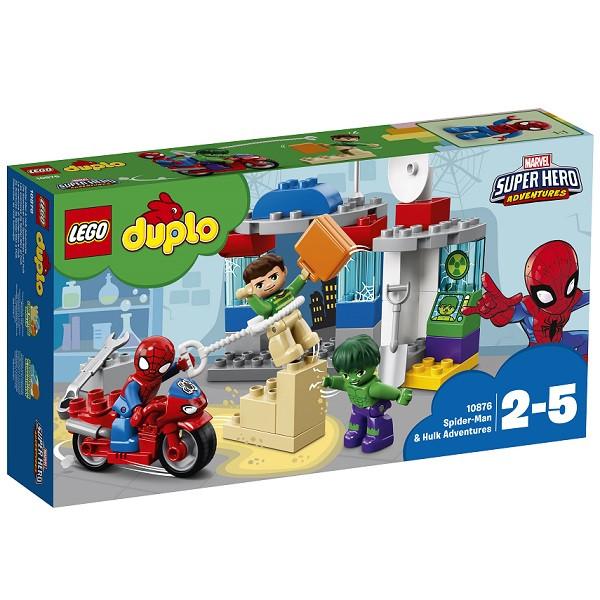 10876 Lego Duplo Супер Герои: Приключения Человека-паука и Халка, Лего Дупло