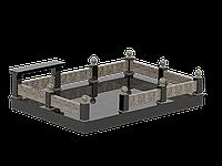 Гранитная площадка с оградой №4
