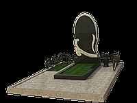 Комплекс из гранита на 1 могилу МКГ9