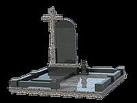 Мемориальный комплекс гранитный на 1 могилу МКГ25