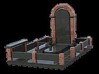 Мемориальный комплекс гранитный на 1 могилу МКГ42