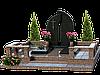 Мемориальный комплекс из гранита на 2 могилы МКГ43