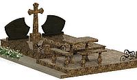 Комплекс гранитный на 2 могилы МКГ46