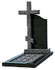 Могильный крест гранитный КГ-1