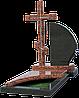 Гранитный памятник с крестом КГ-3