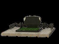 Мемориальный гранитный комплекс на 2 могилы МКГ50