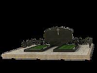 Гранитный могилный комплекс на 2 могилы МКГ52