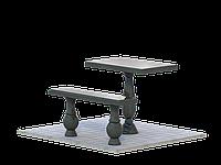 Стол и скамья из гранита №2