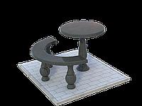 Стол и скамья из гранита №4