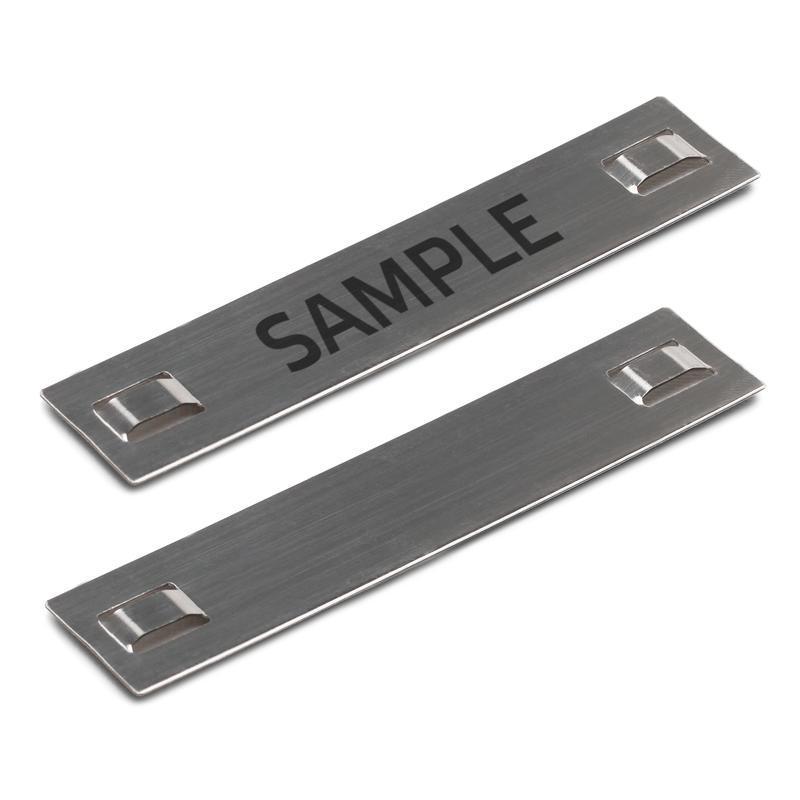 Бирка кабельная стальная МБC (304) 89х19 с лазерной маркировкой