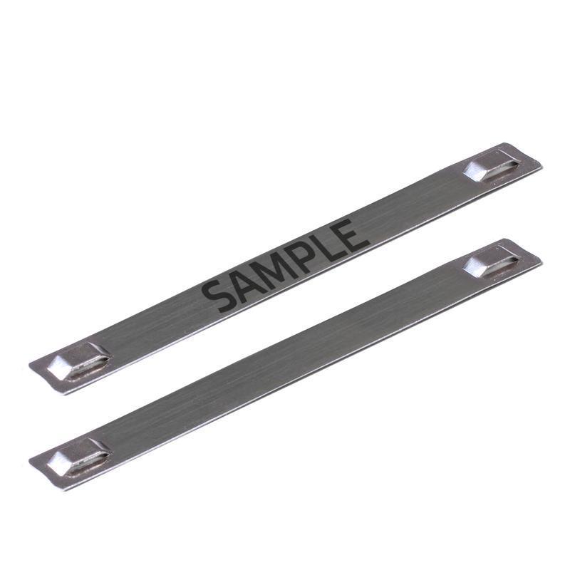 Бирка кабельная стальная МБC (316) 89х10 с лазерной маркировкой