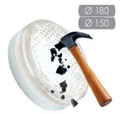 Антивандальный светодиодный светильник AILIN LED ЖКХ 15-Ф-220В D180 (с фотодатчиком, 15Ватт)