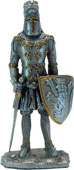 Статуэтка оловянный солдатик Wise Unicorn Рыцарь Английский воин, Высота: 110 мм, Материал: Оловянный сплав, (