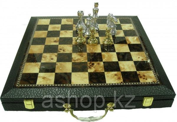 Шахматы ARMS 2502352, Корпус: Дерево, кож. зам., Покрытие: Матовый лак, Высота фигур: От 6 до 11 см