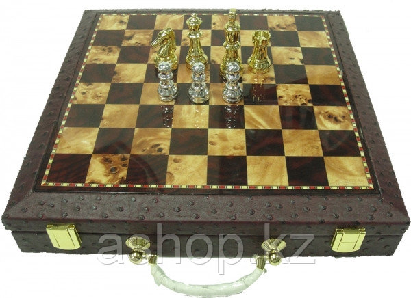 Шахматы ARMS 2502152, Корпус: Дерево, кож. зам., Покрытие: Матовый лак, Высота фигур: От 4 до 7,5 см