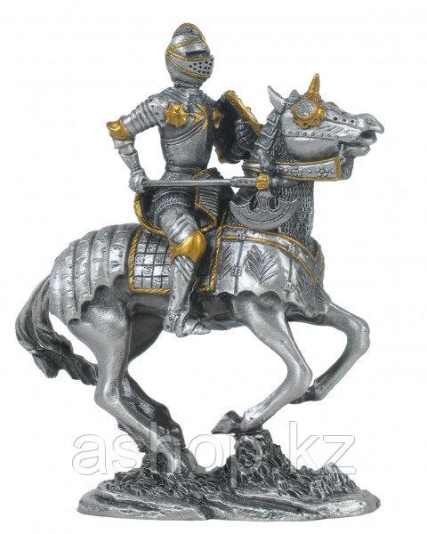 Статуэтка оловянный солдатик Wise Unicorn Рыцарь Французский конный, Высота: 100 мм, Материал: Оловянный сплав