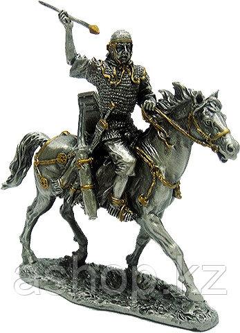 Статуэтка оловянный солдатик Wise Unicorn Конный рыцарь с копьем, Высота: 105 мм, Материал: Оловянный сплав, (