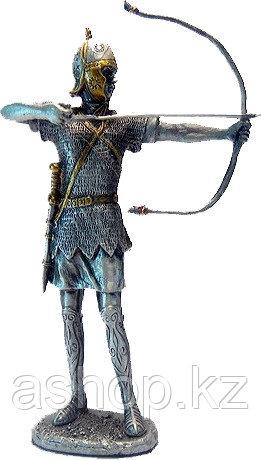Статуэтка оловянный солдатик Wise Unicorn Средневековый лучник, Высота: 105 мм, Материал: Оловянный сплав, (AT