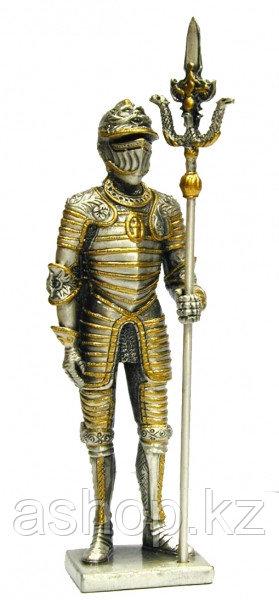 Статуэтка оловянный солдатик Wise Unicorn Рыцарь Со штандартом, Высота: 105 мм, Материал: Оловянный сплав, (AT