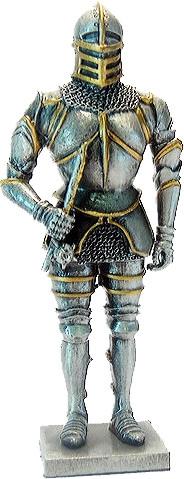 Статуэтка оловянный солдатик Wise Unicorn Рыцарь с булавой, Высота: 105 мм, Материал: Оловянный сплав, (AT0869