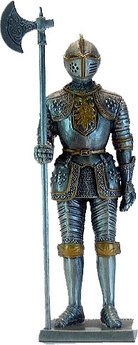 Статуэтка оловянный солдатик Wise Unicorn Рыцарь Средних веков, Высота: 105 мм, Материал: Оловянный сплав, (AT