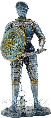 Статуэтка оловянный солдатик Wise Unicorn Рыцарь с булавой и щитом, Высота: 105 мм, Материал: Оловянный сплав,