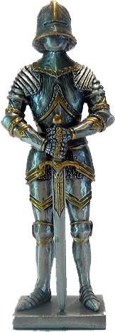 Статуэтка оловянный солдатик Wise Unicorn Рыцарь в турнирных латах, Высота: 105 мм, Материал: Оловянный сплав,
