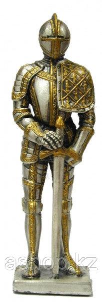 Статуэтка оловянный солдатик Wise Unicorn Рыцарь Средневековый воин, Высота: 105 мм, Материал: Оловянный сплав