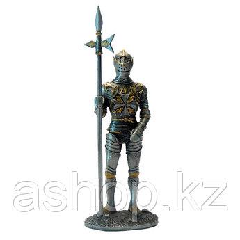 Статуэтка оловянный солдатик Wise Unicorn Рыцарь-крестоносец с алебардой, Высота: 105 мм, Материал: Оловянный