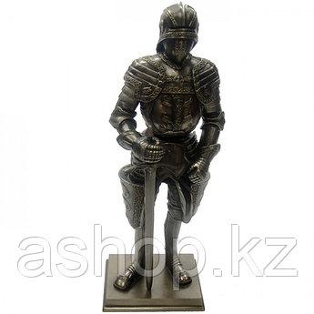 Статуэтка Wise Unicorn Крестоносец с мечом, Высота: 290 мм, Материал: Полистоун, Цвет: Бронзовый, (WU74094A)