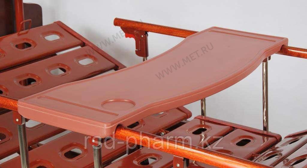 Надкроватный столик, коричневый, пластик для кроватей серии MET KARDO, DB, E, YG