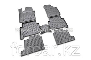 Коврики в салон NISSAN Pathfinder, 2014-> 5 шт., для 3х рядов сидений (полиуретан)