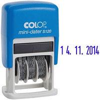 Датер ленточный мини Colop автоматический пластик 1стр размер оттиска 3,8мм банк S 120