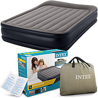 Двухспальная надувная кровать Intex 64136 со встроенным насосом 220V 152х203х42см
