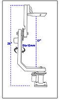 PROAIM /5.5кг/Дистанционная Панорамная головка  для операторского крана от PROAIM INDIA, фото 3