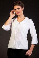 """Белая офисная блузка """"Агата"""" 44 размер"""