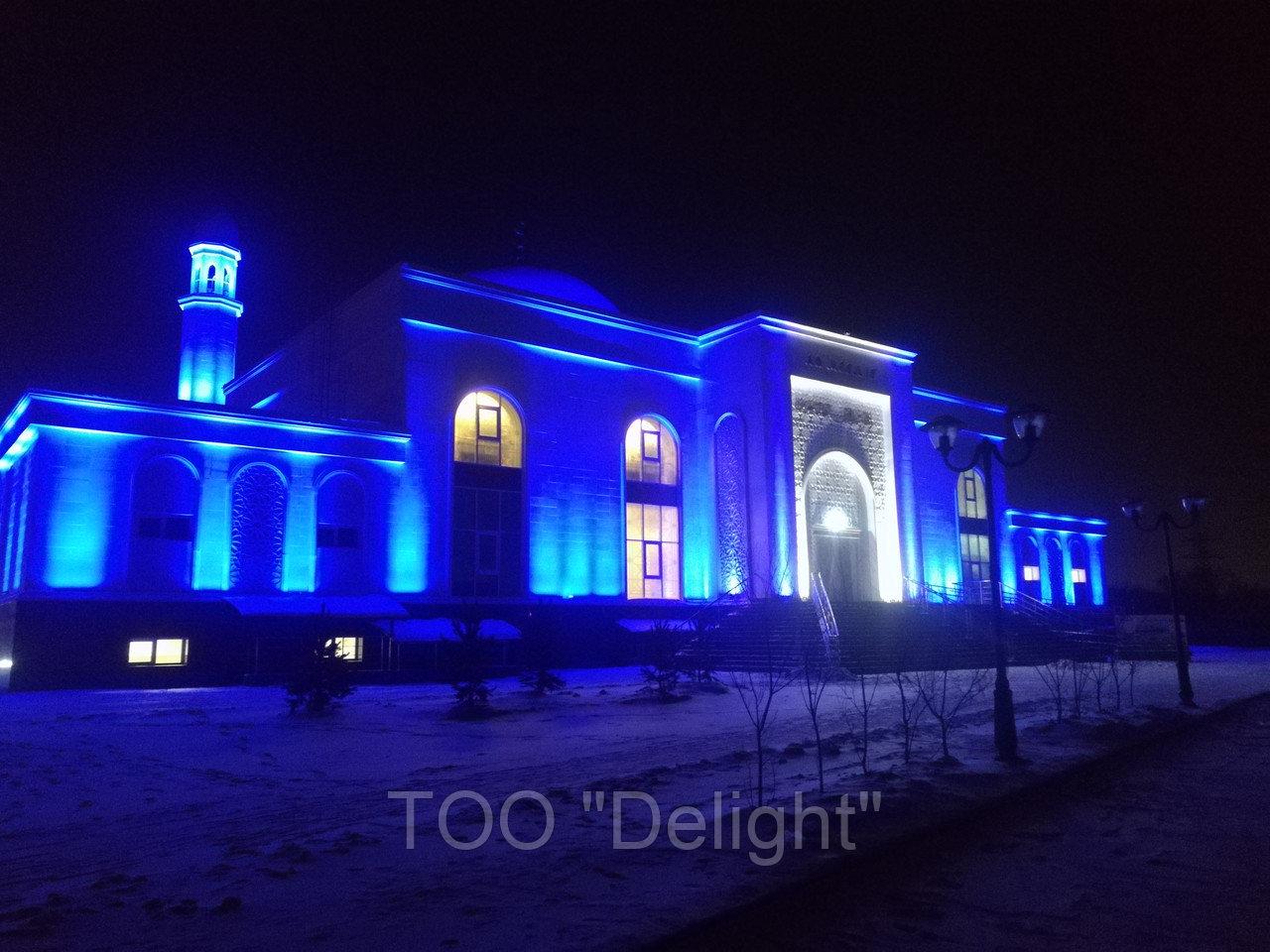Архитектурное освещение мечети г Астана ''Белая Мечеть''