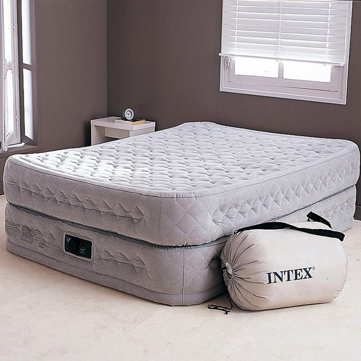 Двуспальная надувная кровать Supreme Air-Flow Bed 152х203х51см со встроенным насосом, Intex 64464