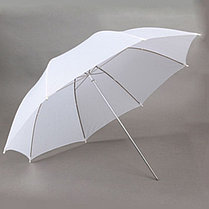 2 студийных зонта 82 см на просвет на стойках с головками для вспышек, фото 2