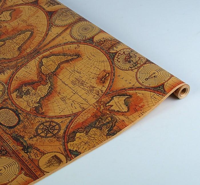 """Бумага упаковочная крафт """"Карта"""", 0.7 х 10 м, 60г/м2   3093872"""